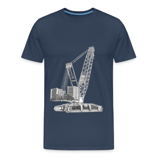 Crawler Crane 750t - Men's Premium T-Shirt