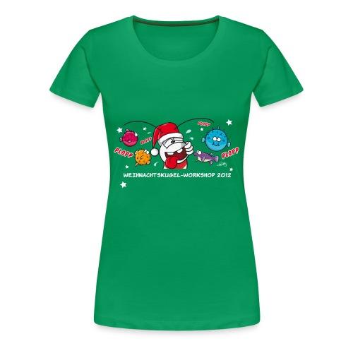 Damenshirt Weihnachtskugelworkshop - Frauen Premium T-Shirt