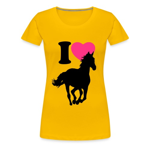 Women's Premium T-Shirt - country girl horse