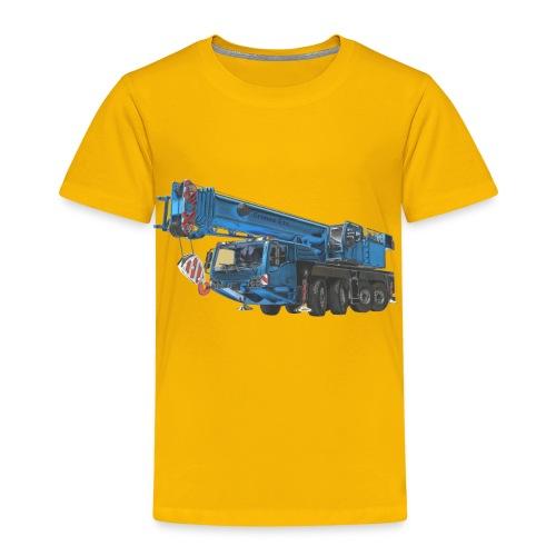 Mobile Crane 4-axle - Blue - Kids' Premium T-Shirt