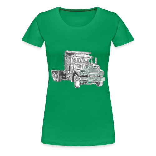 Flatbed truck - 3-axle - Women's Premium T-Shirt