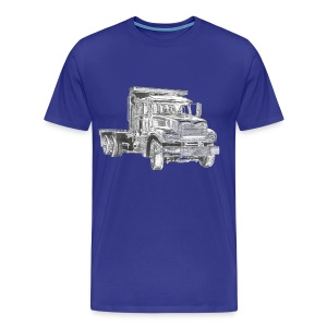 Flatbed truck - 3-axle - Men's Premium T-Shirt