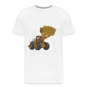 Old Mining Wheel Loader - Yellow - Men's Premium T-Shirt