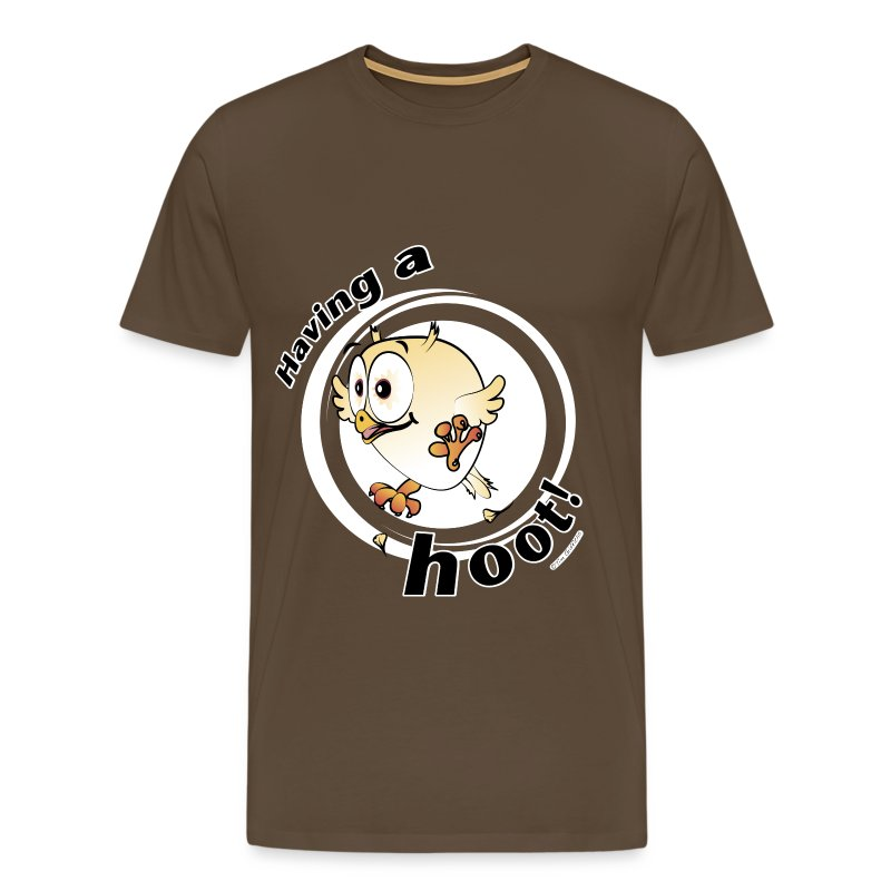 Having a hoot! (brown) - Men's Premium T-Shirt