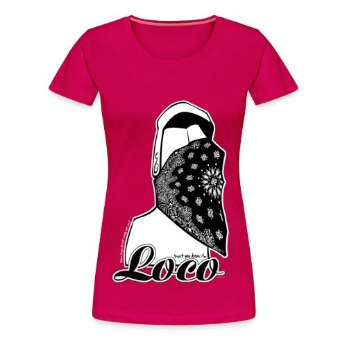 Ladies Loco PINK - Premium-T-shirt dam