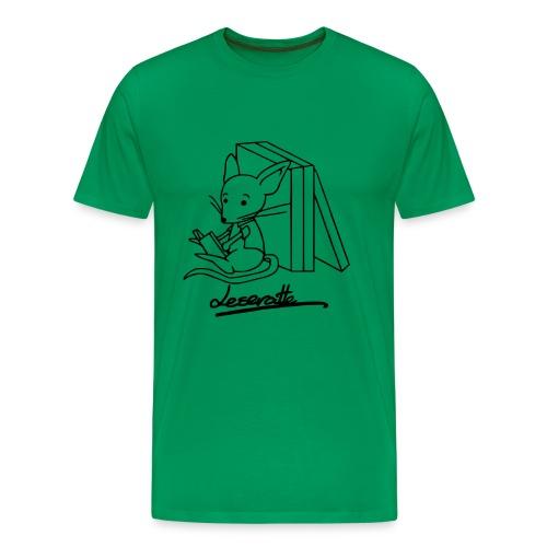 Motiv: Leseratte   Druck: schwarz   verschiedene Farben - Männer Premium T-Shirt