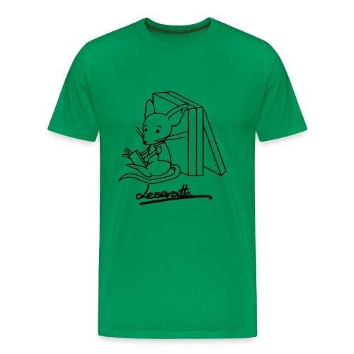 Motiv: Leseratte | Druck: schwarz | verschiedene Farben - Männer Premium T-Shirt