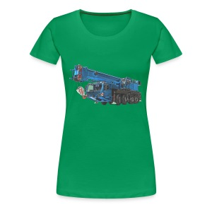 Mobile Crane 4-axle - Blue - Women's Premium T-Shirt