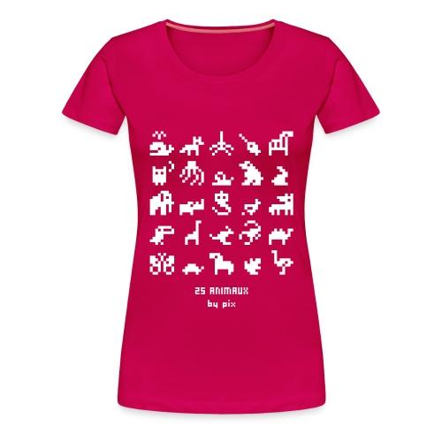 T-shirt-jeu 25·animaux - T-shirt Premium Femme