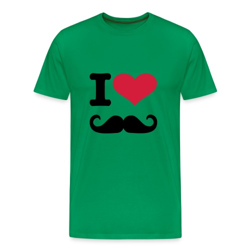 Mannenshirt: I Love Mustache - Mannen Premium T-shirt