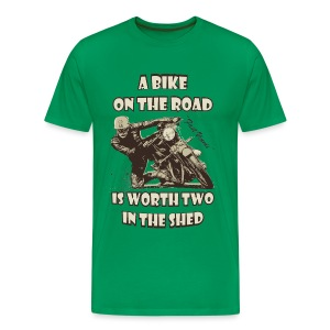 A bike on the road - Men's Premium T-Shirt