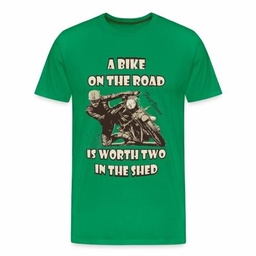 A bike on the road - Men's Premium T-Shirt