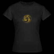 T-Shirts ~ Frauen T-Shirt ~ OM 3D gold - T-Shirt