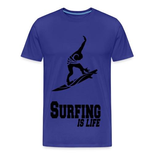 shirt surfing - Mannen Premium T-shirt