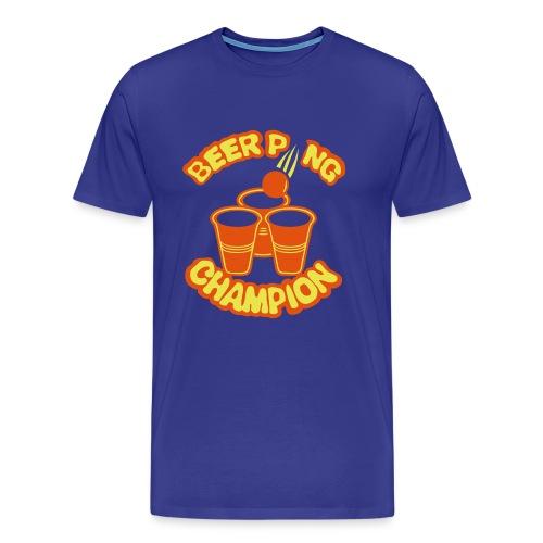 Beer pong champion logo Homme - T-shirt Premium Homme