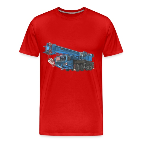 Mobile Crane 4-axle - Blue - Men's Premium T-Shirt