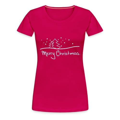 T-Shirt Merry Christmas rot - Frauen Premium T-Shirt