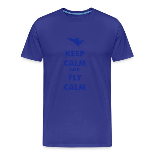 Keep Calm Fly Calm Typhoon - Men's Premium T-Shirt
