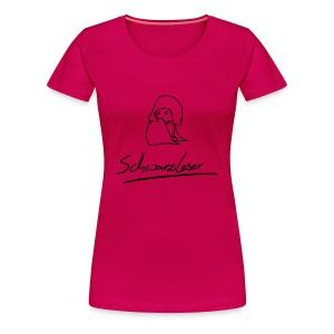 Motiv: Schwarzleser (neu)  Druck: schwarz   verschiedene Farben - Frauen Premium T-Shirt