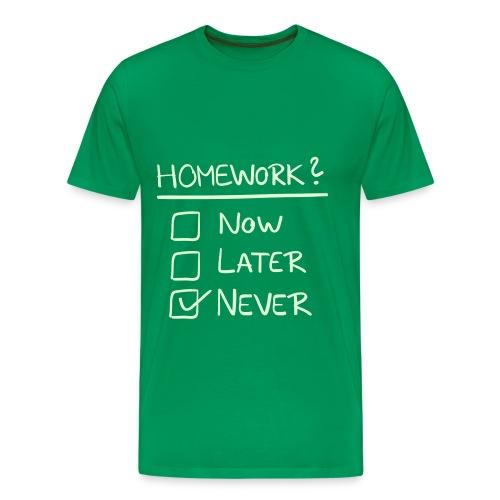 Homework ? - Mannen Premium T-shirt