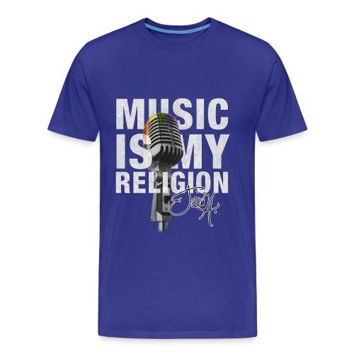 Music Is My Religion - T-Shirt - Männer Premium T-Shirt
