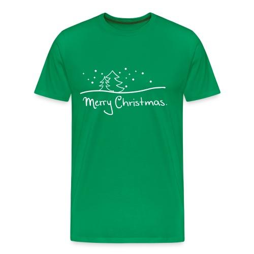 T-Shirt Merry Christmas grün - Männer Premium T-Shirt