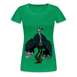 ruim vrouwen T-shirt met struisvogel - Vrouwen Premium T-shirt