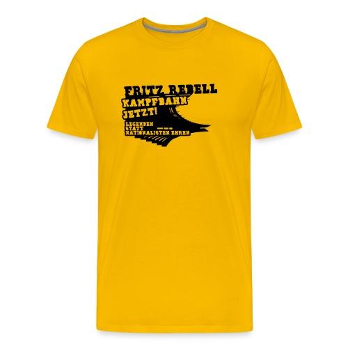 Fritz Rebell Kampfbahn [positiv] - Männer Premium T-Shirt