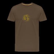 T-Shirts ~ Männer Premium T-Shirt ~ OM 3D gold - T-Shirt