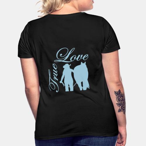 True Love Westernreiterin Shirt - Frauen T-Shirt
