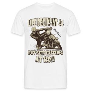 Life begins at 44 - Men's T-Shirt