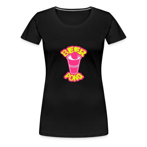 Beer pong verre balle Femme  - T-shirt Premium Femme