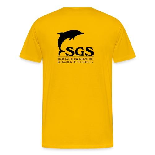 SGS Herren T-Shirt SCHWARZ - Männer Premium T-Shirt