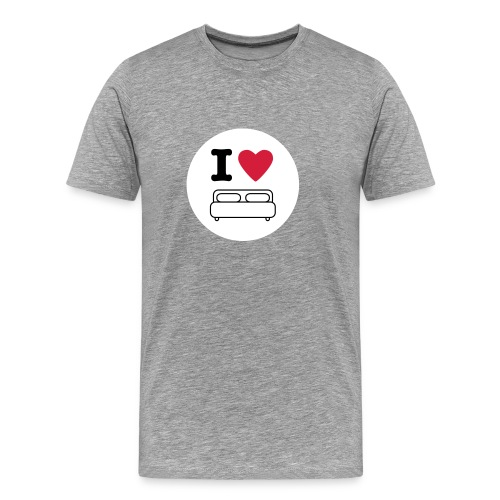 i love bed - Men's Premium T-Shirt
