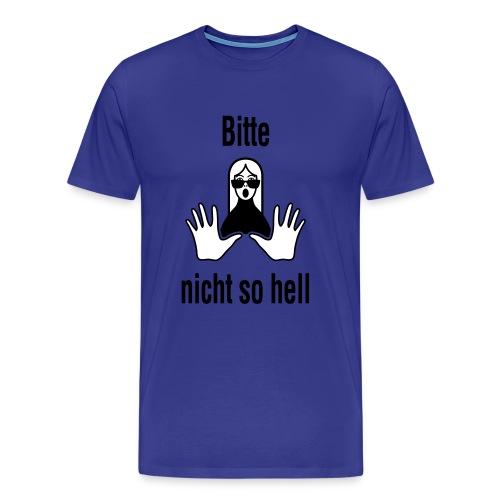 Bitte nicht so hell Men Grün - Männer Premium T-Shirt