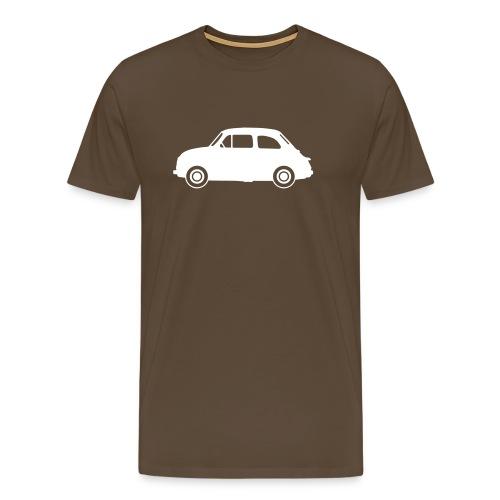 Fiat 500, blanche de profil - T-shirt Premium Homme