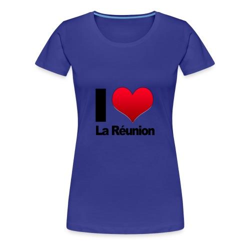 I love La Reunion couleurs Femme - T-shirt Premium Femme