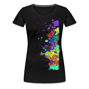 Splat Painting / Klecks Malerei | Frauen Shirt 3XL - Frauen Premium T-Shirt