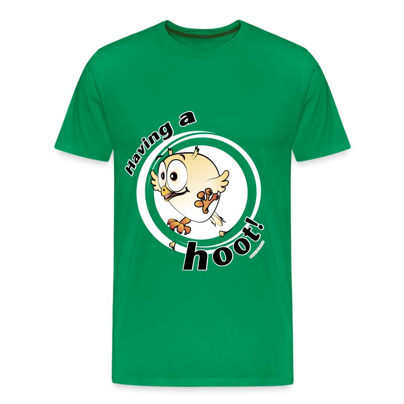 Having a hoot! (green) - Men's Premium T-Shirt