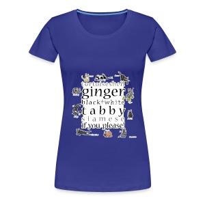 Kittie Allsorts ( blue) - Women's Premium T-Shirt
