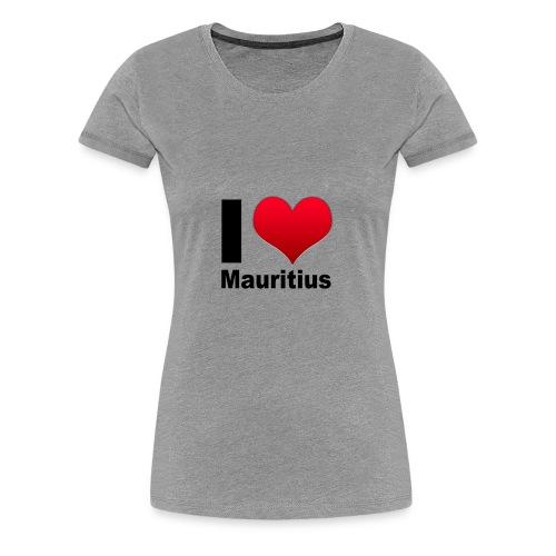 I love Mauritius couleurs Femme - T-shirt Premium Femme