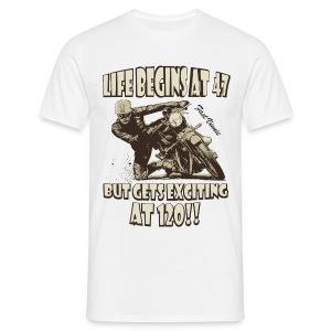Life begins at 47 - Men's T-Shirt