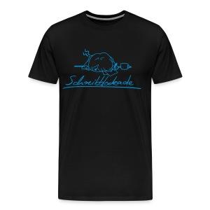 Userwunsch   Motiv: Schreibblockade   Druck: hellblau   verschiedene Farben - Männer Premium T-Shirt