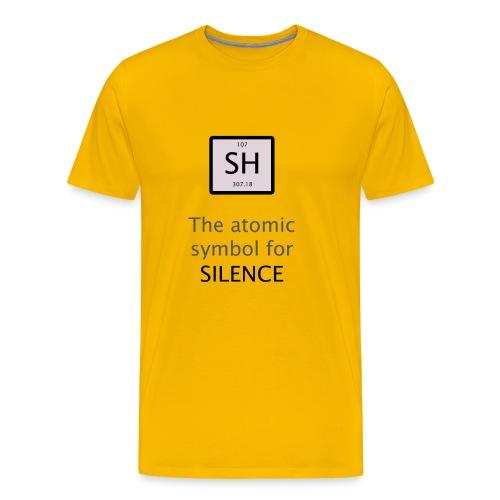 Silence Chemical Symbol - Men's Premium T-Shirt