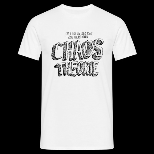 Chaostheorie (schwarz) - Miesten t-paita