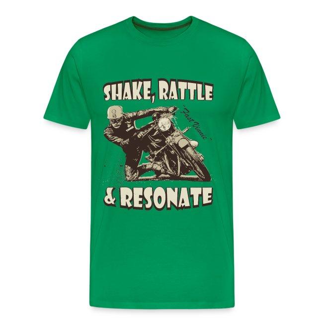 Shake, Rattle & Resonate biker t-shirt