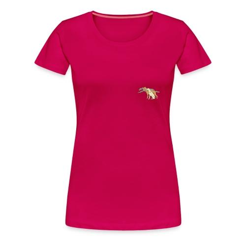 Damtopp, litet tryck fram - Premium-T-shirt dam