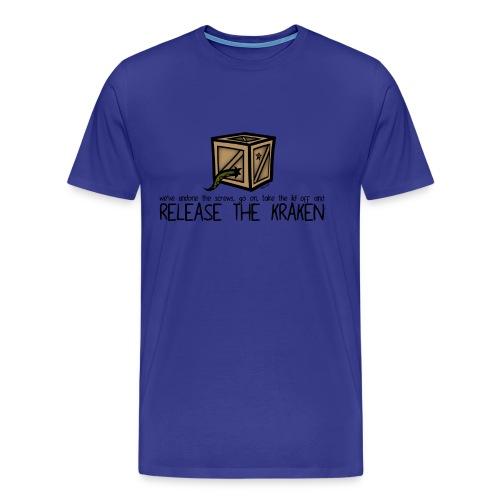 RELEASE THE KRAKEN male - Men's Premium T-Shirt