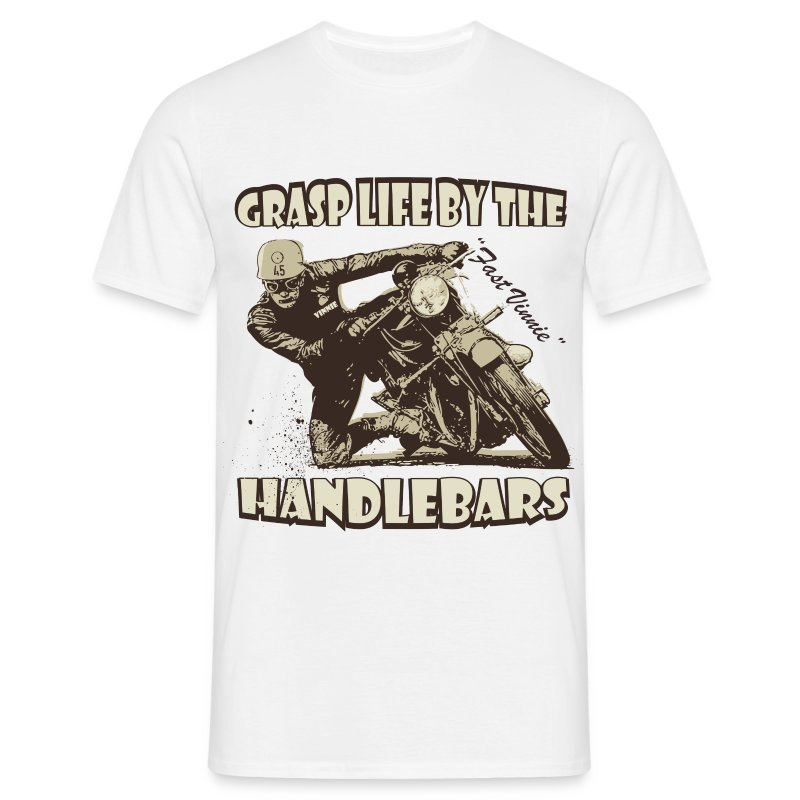 Grasp life by the handlebars t-shirt - Men's T-Shirt