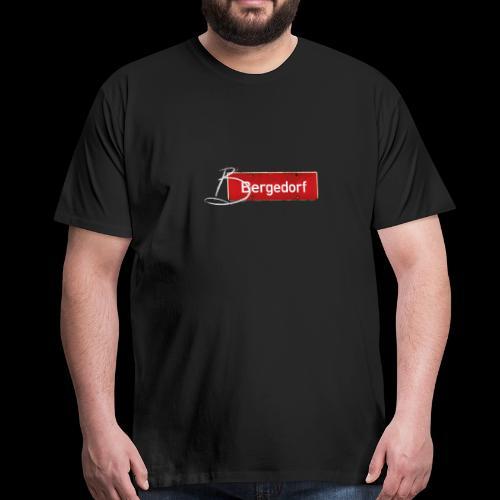 Hamburg-Bergedorf mit Schmuck-Initial - Männer Premium T-Shirt